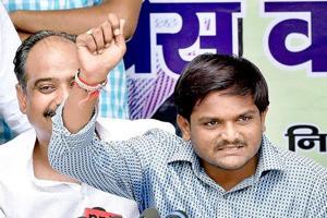 Hardik Patel, convener of Patidar Anamat Andolan Samiti (PAAS) speaks during a press conference in New Delhi.
