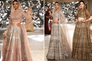Falguni and Shane Peacock dazzle with metallic hues in couture debut