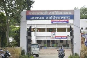 File photo of Sahibabad police station.  A dance teacher was arrested by the Sahibabad Police for allegedly raping a 16-year-old girl who attended his classes.