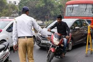 Three traffic policemen while patrolling the Mumbai-Bengaluru highway last Wednesday night were also hit by a speeding car in Bavdhan area.