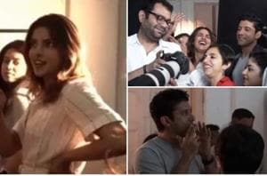 Priyanka Chopra is seen having a great time with her The Sky Is Pink cast and crew in new video.
