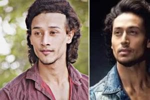 Assamese actor David Saharia (left) and Bollywood actor Tiger Shroff (right).
