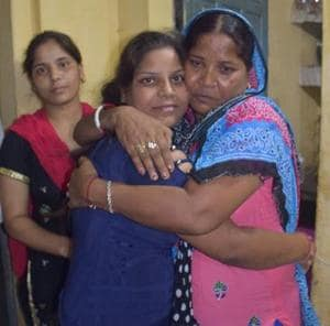 Simranjit landed at the Amritsar airport at 1.30pm on Sunday, but Punjab Police did not hand her over her to her relatives immediately. The police questioned her for over three hours to get details of the agent who sent her to Dubai.