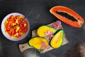Mangoes and papayas are rich in carotenoids which can help prevent acne.