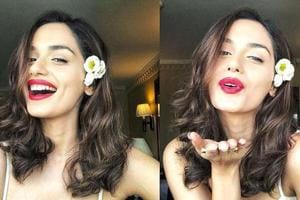Miss World Manushi Chhillar casually worked all her best angles to show off the look (and her incredible glow) in a series of Instagram posts. (Instagram)