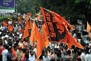 Maratha community protests on JM Road in Pune, on July 29, 2018.