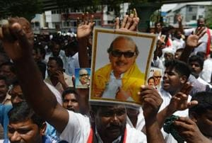 Crowds of supporters thronged the hospital from different parts of the state, hoping and praying for Karunanidhi.