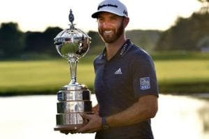 Dustin Johnson clinched the Canadian Open and his third PGA Tour title of the season on Sunday.