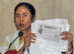 West Bengal Chief Minister Mamata Banerjee addresses a press conference over Assam's National Register of Citizen (NRC) draft, in Howrah, July 30. Ever since she swept to power in West Bengal, Ms Banerjee has been trying to expand her footprint beyond her state.
