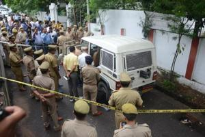 The crime spot is just outside the residence of state law minister Brajesh Pathak that is a few metres away from the Governor House.