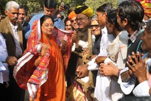 """Legislators blamed chief minister Vasundhara Raje for the loss in the last three bypolls. They say Raje is neither """"accessible"""" to them nor party workers. This prompted Raje to start her Jan Samvads (public dialogues) in the state to reach out to people."""