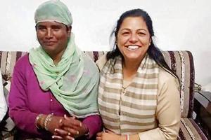 Padma Sampatha (left) with Dr Suneela Sharma, a social activist,   at the Mental Health and Rehabilitation Centre in Shimla.