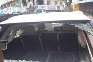 The Audi driver apparently lost control and crashed into a bus stop, then rammed into an auto rickshaw parked on the roadside, and came to a halt only after hitting a roadside flower shop and an electric pole.