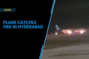 Jazeera flight from Kuwait catches fire on landing at Hyderabad