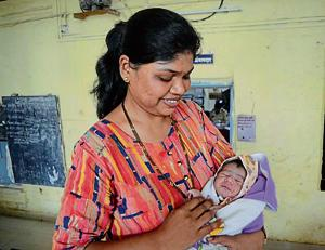 A woman constable has been appointed to look after the newborn till the time he is not shifted to a child care centre.