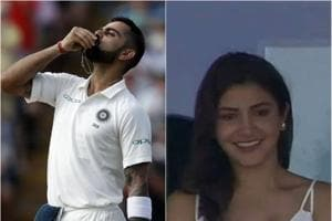 Virat Kohli pulled out his wedding ring and kissed it after his knock.