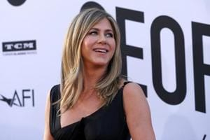 Actor Jennifer Aniston poses at the 46th AFI Life Achievement Award Gala in Los Angeles, California, U.S.