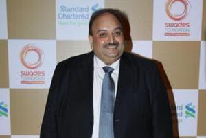 Mehul Choksi (above) is one of the alleged masterminds of the $2 billion scam in state-run Punjab National Bank and uncle of fugitive diamantaire Nirav Modi.