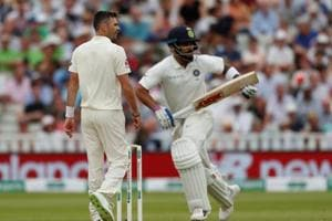 Chasing 194 to win the first cricket Test against England, India were 110 for five at stumps on day three, at Edgbaston on Friday.