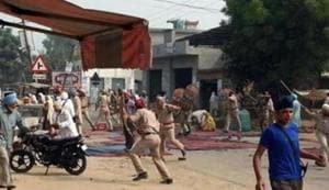 Two persons were killed in the police firing on protesters in Kotkapura and Behbal Kalan.