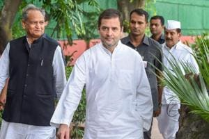 New Delhi: Congress President Rahul Gandhi arrives for the Congress Working Committee (CWC) meeting, at AICC in New Delhi on Saturday, Aug 4, 2018. (PTI Photo/Atul Yadav) (PTI8_4_2018_000023A)