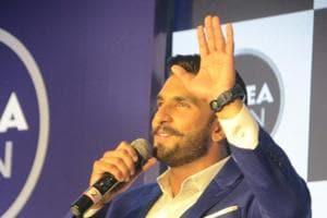 Mumbai: Actor Ranveer Singh during the launch of a product in Mumbai on Aug 4, 2018. (Photo: IANS)