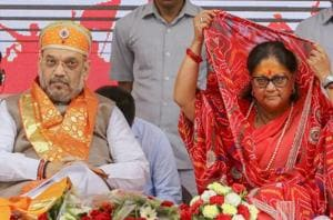 Addressing a public meeting at Kankroli in Rajsamand district of Rajasthan to flag off chief minister Vasundhara Raje's Rajasthan Gaurav Yatra, BJP president Amit Shah said the Congress should clarify its stand on the NRC