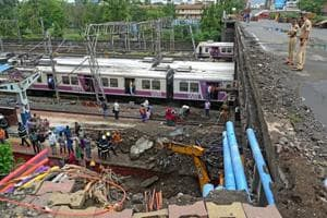 The pedestrian pathway of Gokhale Bridge collapsed on Andheri station on July 3.