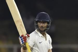 India A batsman Mayank Agarwal sent the South Africa A bowlers on a leather hunt with an unbeaten 220 off 250 balls.
