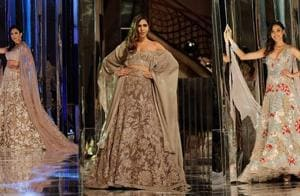 From ruffled blouses with lehengas to embellished gowns, kaftans and contemporary saris, Manish Malhotra's couture collection has everything for the modern bride.