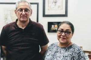 Rakesh Maria and Meghna Gulzar in a still released by the production houses.
