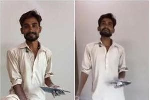 Pakistani painter will make you hear his songs on the loop. (Twitter)
