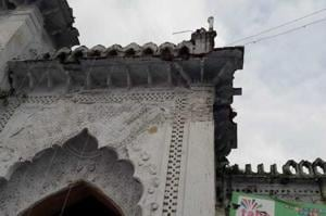 A part of the Chhota Imambada gate collapsed on Monday.