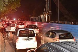 Commuters remain stranded on the road for hours during peak hours of traffic.