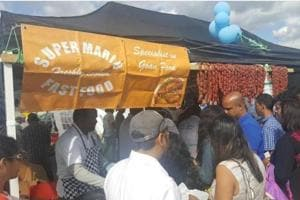 A food stall at the UK Goan Festival held in London in August 2017.