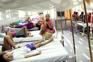 File photo of Hindu Rao hospital's dengue ward. The Delhi government has asked private hospitals and nursing homes in  the city to arrange for extra beds till October 31, anticipating an increase in the number of dengue, malaria and chikungunya cases.