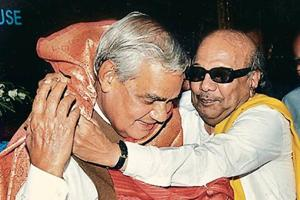 M Karunanidhi enjoyed a close relationship with former Prime Minister Atal Bihari Vajpayee.