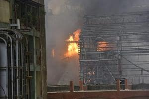Boiler blast at BPCL mahul unit in which 43 works injured.