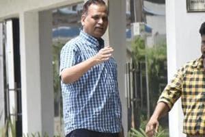 Delhi home minister Satyendar Jain