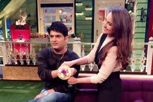 Sonakshi Sinha in an appearance on the Kapil Sharma Show.