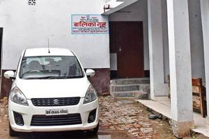 The sealed campus of Muzaffarpur short stay home where girls were alleged sexually abused, on the left is the office and printing press of Hindi vernacular, Pratha Kamal, in Muzaffarpur, Bihar, India on Friday, August 03, 2018.