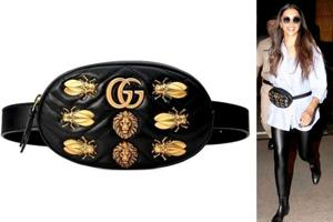 Deepika Padukone loves this leather Gucci fanny pack (priced at $1,890 or Rs 1.3 lakh) embellished with metal cicadas, moths and lion heads. (Instagram)