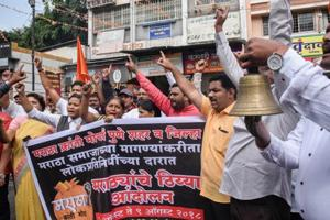 Some schools, considering the sensitive circumstances involved with the Maratha agitation and that the community observes August 9 as 'Kranti Din', had notified parents of a shutdown on Tuesday itself.