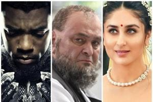 Chadwick Boseman as T'Challa, Rishi Kapoor and Kareena Kapoor.
