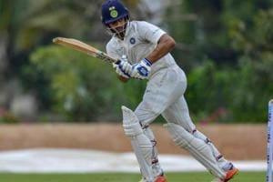Bengaluru: India A batsman Hanuma Vihari plays a shot en route his unbeaten 138 runs during the first day of the second cricket test match against South Africa A near Bengaluru on Friday, Aug 10, 2018. (PTI Photo) (PTI8_10_2018_000215B)