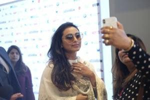 Rani Mukerji at the Indian Film Festival of Melbourne (IFFM) in Melbourne on Aug 10, 2018.(Photo: IANS)