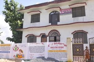 Aview of the bungalow owned by Girija Tripathi at Rajla Bhujauli in Deoria, Uttar Pradesh. A part of this bungalow was used for running an old age house and orphanage for mentally disabled girls.