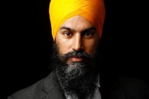 New Democratic Party federal leader Jagmeet Singh poses for a picture in Brampton, Ontario, Canada.