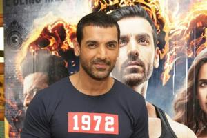 John Abraham during the promotion of his upcoming film Satyameva Jayate in New Delhi on August 9, 2018.