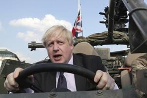 Former UKforeign secretary Boris Johnson at a ceremony in Warsaw, Poland, earlier this year.